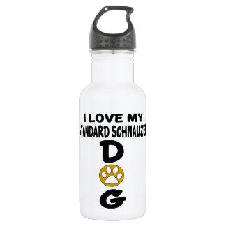 I Love My Standard Schnauzer Dog Designs 532 Ml Water Bottle