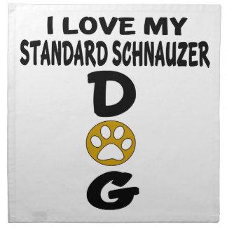 I Love My Standard Schnauzer Dog Designs Napkin