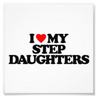 I LOVE MY STEP DAUGHTERS ART PHOTO