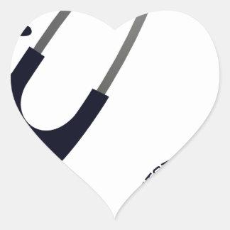 I Love My Stethoscope - Blue Heart Sticker