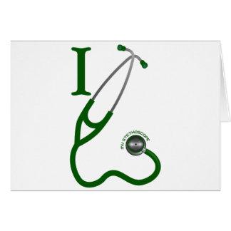 I Love My Stethoscope - Green Card