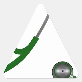 I Love My Stethoscope - Green Triangle Sticker