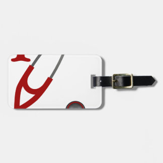 I Love My Stethoscope - Red Luggage Tag