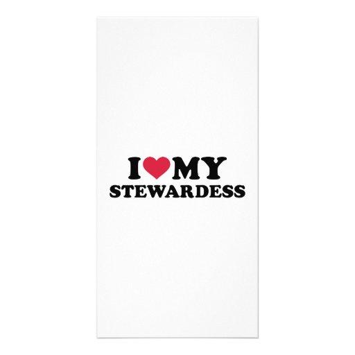 I love my stewardess photo card template