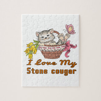 I Love My Stone cougar Jigsaw Puzzle