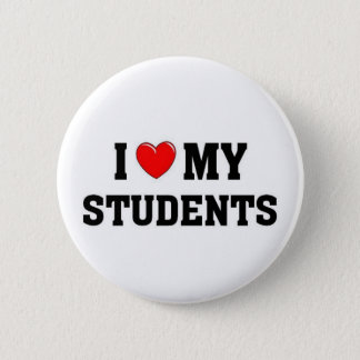 I love my students 6 cm round badge