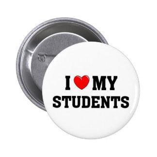 I love my students 6 cm round badge