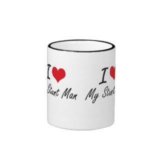 I love My Stunt Man Ringer Mug