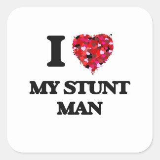 I love My Stunt Man Square Sticker