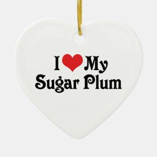 I Love My Sugar Plum Christmas Tree Ornaments