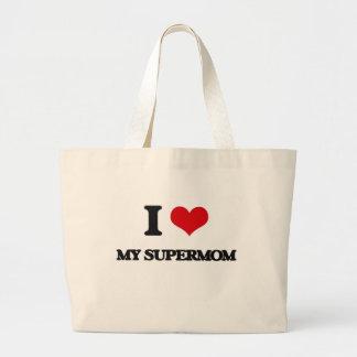 I love My Supermom Jumbo Tote Bag