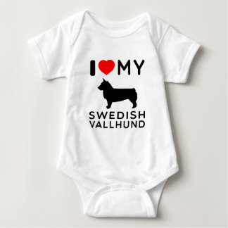 I Love My Swedish Vallhund Baby Bodysuit