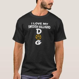 I Love My Swedish Vallhund Dog Designs T-Shirt