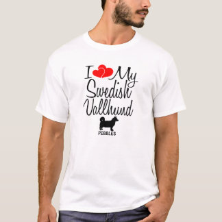 I Love My Swedish Vallhund Dog T-Shirt