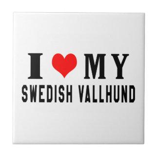 I Love My Swedish Vallhund Ceramic Tiles