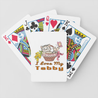I Love My Tabby Bicycle Playing Cards