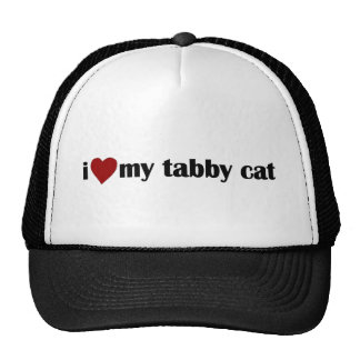 I Love My Tabby Cat Cap