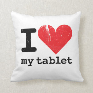 I Love My Tablet 2-sided Pillow Cushions
