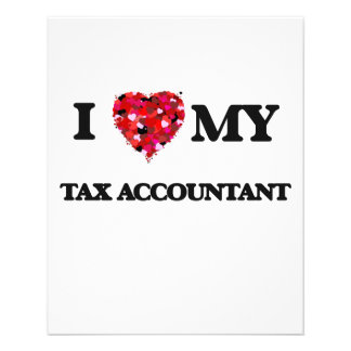 I love my Tax Accountant 11.5 Cm X 14 Cm Flyer