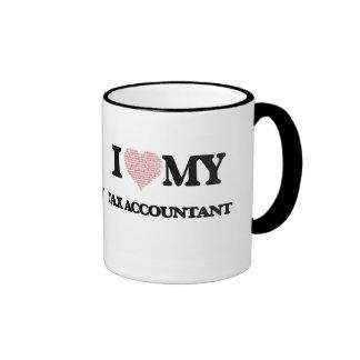 I love my Tax Accountant (Heart Made from Words) Ringer Mug