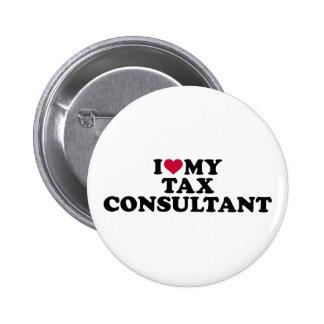 I love my tax consultant 6 cm round badge