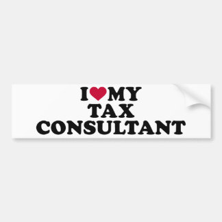 I love my tax consultant bumper sticker
