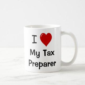 I Love My Tax Preparer / Loves Me Basic White Mug