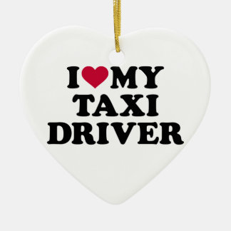 I love my taxi driver ceramic heart decoration