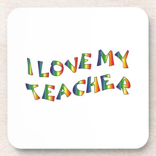 I Love My Teacher (thank you) Rainbow Appreciation Coasters