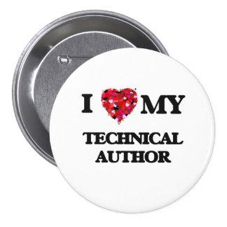 I love my Technical Author 7.5 Cm Round Badge