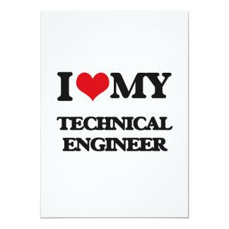 "I love my Technical Engineer 5"" X 7"" Invitation Card"