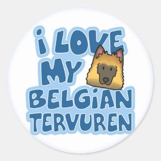 I Love My Tervuren Stickers