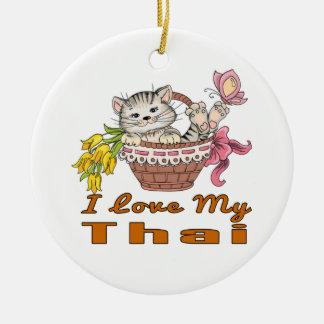 I Love My Thai Ceramic Ornament