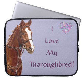 I Love My Thoroughbred Horse Laptop Bag Laptop Computer Sleeve