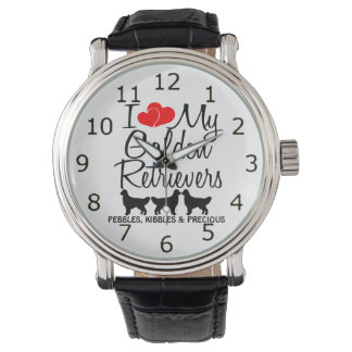 I Love My THREE Golden Retriever Dogs Watch