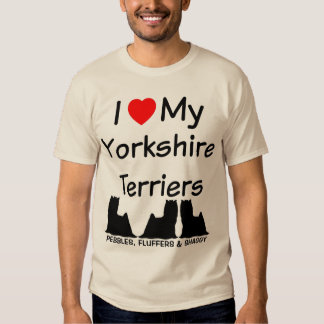 I Love My THREE Yorkshire Terrier Dogs Tshirts