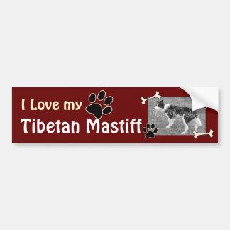 I love my Tibetan Mastiff Bumper Sticker