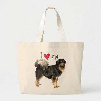 I Love my Tibetan Mastiff Large Tote Bag
