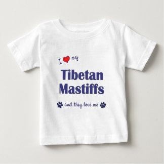 I Love My Tibetan Mastiffs (Multiple Dogs) Baby T-Shirt