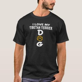 I Love My Tibetan Terrier Dog Designs T-Shirt
