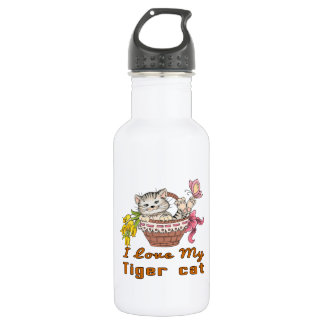 I Love My Tiger cat 532 Ml Water Bottle