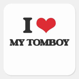 I love My Tomboy Square Sticker