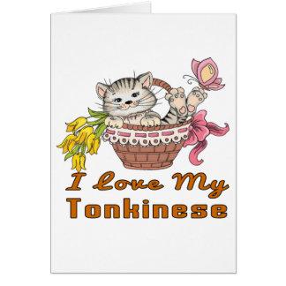 I Love My Tonkinese Card