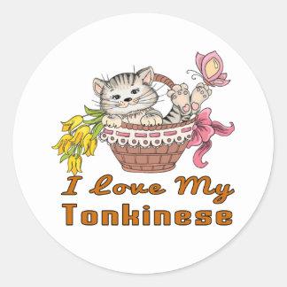 I Love My Tonkinese Classic Round Sticker
