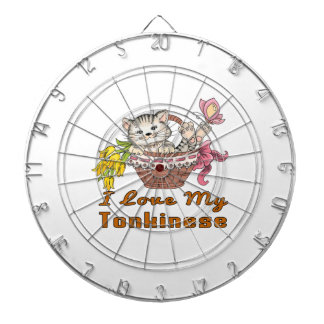 I Love My Tonkinese Dartboard