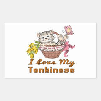 I Love My Tonkinese Rectangular Sticker