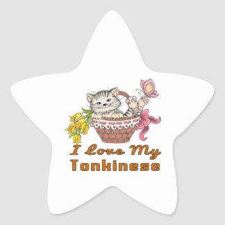 I Love My Tonkinese Star Sticker