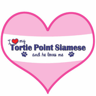 I Love My Tortie Point Siamese (Male Cat) Photo Cut Out