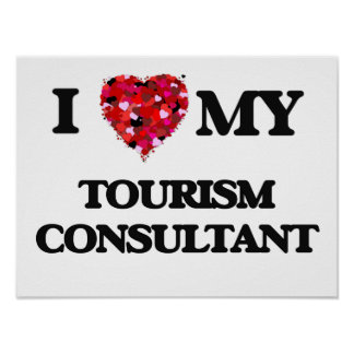 I love my Tourism Consultant Poster