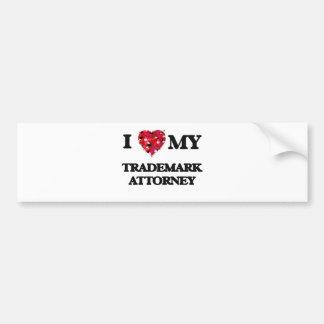 I love my Trademark Attorney Bumper Sticker